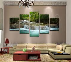 living room canvas wall art red chevron pattern fabric cushion
