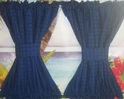Blue Plaid Curtains Plaid Curtains Etsy