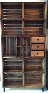 Simple Wood Shelves Plans by 25 Best Crate Bookshelf Ideas On Pinterest Desk To Vanity Diy