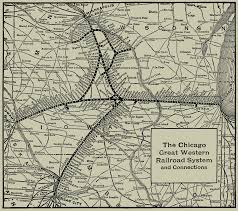Chicago City Train Map by Railroad Maps U0026 Timetables The Dome