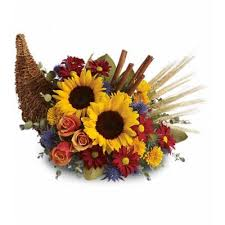 thanksgiving flowers table centerpieces cornucopia mayfield
