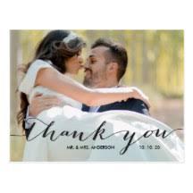 wedding thank you postcards wedding thank you postcards zazzle
