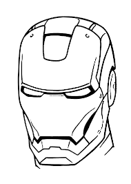 iron man mask coloring pages for kids printable free coloring