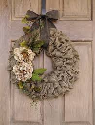 burlap wreath ideas for spring home