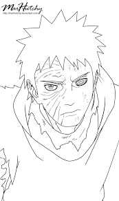 naruto 599 obito uchiha tobi lineart by marhutchy on deviantart