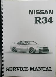 nissan r34 skyline service data spec trouble diagnostic service