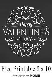 free chalkboard printable happy valentine u0027s day printables