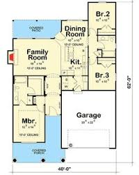 Small Bungalow Style House Plans by Bungalow Style House Plans 1700 Square Foot Home 1 Story 3