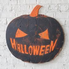 mean halloween pumpkin wooden decor party large halloween