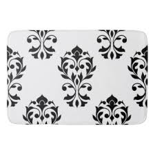 Damask Bath Rug Baroque Bath Mats Rugs Zazzle