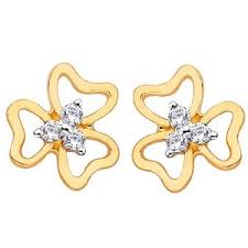 d damas gold earrings d damas gold diamond earrings dde02352 gold earrings