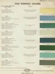 1955 pontiac color combinations