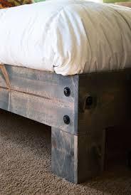 Make Your Own Platform Bed Frame Diy Platform Bed Salvaged Door Headboard Part Three Salvaged