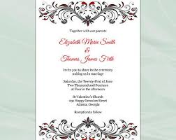 Red And Black Wedding Invitations 29 Blank Red And Black Wedding Invitations Vizio Wedding