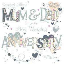 60th wedding anniversary wishes silver 25th wedding anniversary greeting card cards