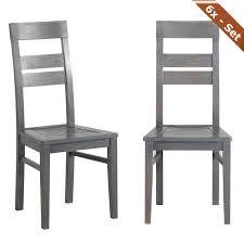 holzstühle esszimmer 6x holzstuhl heros eiche grau stuhlgruppe esszimmer stuhl stühle