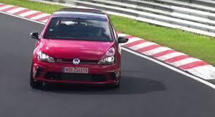 2016 volkswagen golf gti clubsport races the nurburgring in