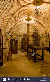 the replica torture chamber in the underground wine cellars under