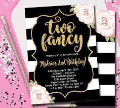 fancy invitations two fancy invitation 2nd birthday invitation two fancy