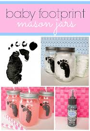 baby footprint ideas decoart crafts baby footprint jars