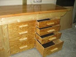 Work Bench Design Furniture 20 Top Models Garage Workbench Plans With Drawers Full