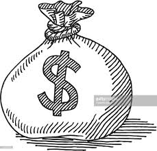 money bag dollar sign drawing vector art getty images