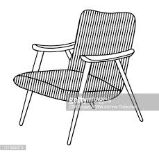 Midcentury Modern Armchair - midcentury modern chair vector art getty images