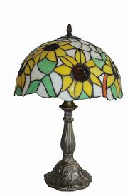 Tiffany Table Lamp Shades Tiffany Lamp Sun Flower Design Zinc Base Seriena Tiffany Lamp