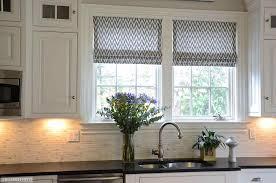 Decorative Roller Window Shades Roman Shades Kitchen Window Treatments Decor Window Ideas
