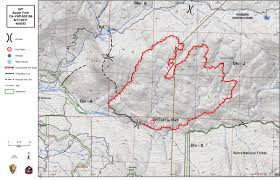 Yosemite Park Map Updates On South Fork Fire In Yosemite National Park For Thursday