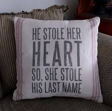 Home Decor Accent Farmhouse Stole Her Heart Home Decor Accent Pillow