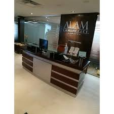 china modern big size wood mdf office reception desk for 2 seaters
