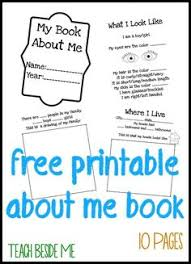 free printable all about me book great for the first week of