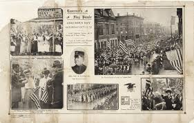 Mass Flag Flag Day Oct 12 1912 Lawrence Ma Queen City Massachusetts