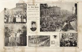 Flag Of Massachusetts Flag Day Oct 12 1912 Lawrence Ma Queen City Massachusetts
