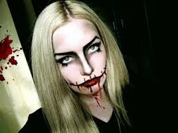 scary face makeup for halloween face makeup ideas