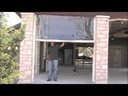 How To Make Roll Up Curtains Clear Vinyl Roll Up And Down Curtains Youtube