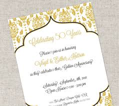 invitation sles for anniversary new 50th wedding