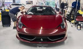 chrome ferrari 458 spider 2014 review seattle auto detail xpel car wraps u0026 more