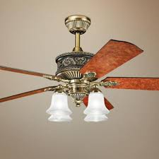 antique brass ceiling fan 52 kichler corinth 4 light antique brass ceiling fan 4f789