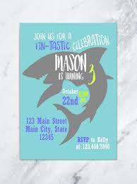 shark birthday invitation ocean birthday invitation shark invite