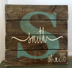 Last Name Wall Decor Last Name Sign Barnwood Crafts Pinterest Pallets Craft And