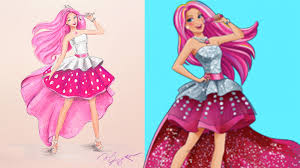 barbie rock star picture drawing painting coloring boyaboya