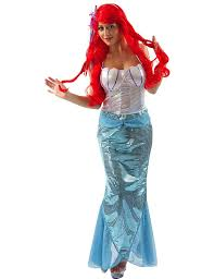 Mermaid Halloween Costume Adults Mermaid Fancy Dress Costume Small 8 10 Funshack