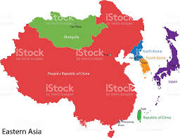 North Asia Map by Asia Map Clip Art Vector Images U0026 Illustrations Istock
