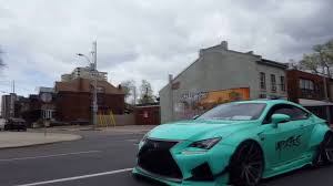 lexus rc rocket bunny kit rocket bunny lexus rc f terrorize downtown loud youtube