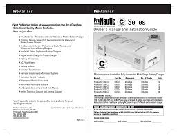 promariner pronautic c3 user manual 9 pages