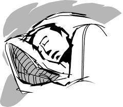 Drawing Of A Bed Someone Sleeping In A Bed Clipart Clipartxtras