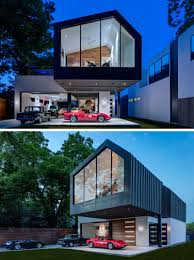 modern house garage this new house in texas was designed to include a collector car