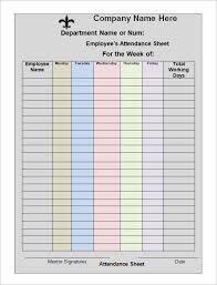 Employee Payroll Sheet Template 28 Monthly Employee Attendance Record Template Payroll